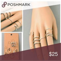 Beautiful Midi Ring Set Size 6 Jewelry Rings