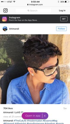 Best Ideas For Short Haircuts : Ultra short pixie by – community. Short Sassy Hair, Short Pixie, Short Hair Cuts, Dope Hairstyles, Short Hairstyles For Women, Black Hairstyles, Hairstyle Ideas, Hair Ideas, Tapered Natural Hair