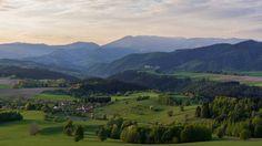 Sunset near Poľana - view to the Low Tatras.