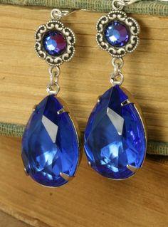 Blue Saphire Earrings