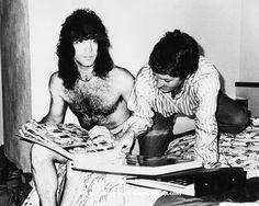 Paul Stanley & Patti Mostyn. KISS 1980 Australian tour Publicist