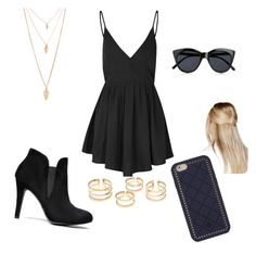 """Untitled #109"" by ilianasofia ❤ liked on Polyvore featuring Glamorous, Boohoo, Le Specs, Tory Burch and Forever 21"