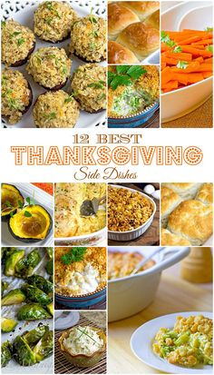 A solid dozen of your favorite Thanksgiving side dishes #Thanksgiving