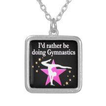BORN TO DO GYMNASTICS SQUARE PENDANT NECKLACE Pretty pink Gymnastics Tees, Apparel, Gifts and Décor. http://www.zazzle.com/mysportsstar/gifts?cg=196751399353624165&rf=238246180177746410   #Gymnastics #Gymnast #IloveGymnastics #WomensGymnastics #PinkGymnast #PinkGymnastics
