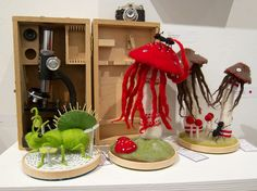 Needle felting inspiration. Big fan of Hine Mizushima >>Needle Felting Extravaganza by Scott Beale, via Flickr