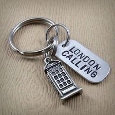 London Calling - British Phone Booth Keychain from insanejellyfish designs