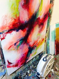 Brittany Lee Howard in the studio #art #painting #abstract