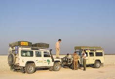 LR 110 Defender camping in South Africa,