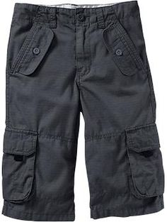 Boys Long Ripstop Cargo Shorts | Old Navy