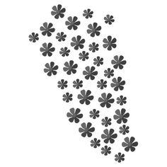40 flower-shaped wall accents in a black finish.  Product: Wall artConstruction Material: MetalFeatu...