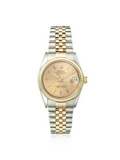 Rolex Women's Midsize Datejust Champagne Stainless Steel Watch
