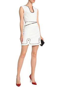 2d532366 Cutout embroidered crepe mini dress | ROLAND MOURET | Sale up to 70% off