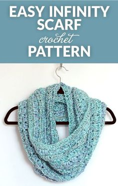 Whip up this beautiful and easy to crochet infinity scarf in a day or two. This crocheted infinity scarf is a great pattern for beginners too. #crochet #crochetlove #freepattern