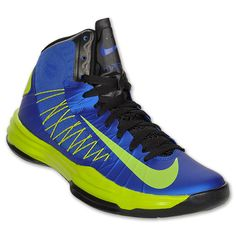 Blue and green nike Basketball shoes!