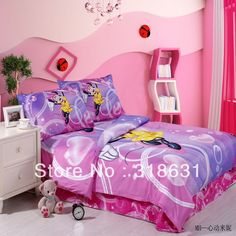 Yellow Mickey Minnie Mouse Bedding Mickey Mouse Bed Set | TWIN ...