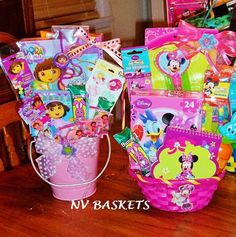 Dora and Minnie small Easter Baskets