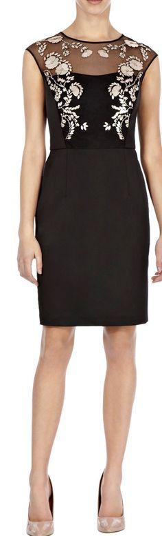 Morpheus Boutique  - Black See Through Jacquard Floral Pencil Designer Dress , CA$145.42 (http://www.morpheusboutique.com/new-arrivals/black-see-through-jacquard-floral-pencil-designer-dress/)