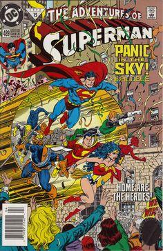 ADVENTURES OF SUPERMAN #489 Final de una de las sagas más famosas de los años 80. $ 60.00 Para más información, contáctanos en http://www.facebook.com/la5aDimension