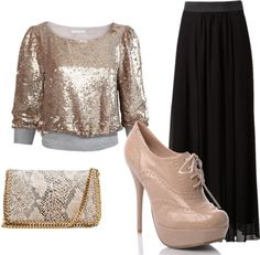 sparkly chic, created by livpaigeyoung on Polyvore