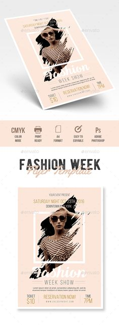 Fashion Flyer  — PSD Template #Fashions #photography • Download ➝ https://graphicriver.net/item/fashion-flyer/18525385?ref=pxcr