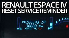 How to #reset #service reminder in #Renault #Espace IV (spanner #maintenance #cars