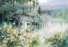 Nita Engle is one of America's foremost watercolor artists. Her landscape watercolor paintings take the viewer into the scene itself. Art Aquarelle, Watercolor Trees, Watercolor Artists, Watercolor Techniques, Watercolor Landscape, Watercolor And Ink, Painting Techniques, Landscape Art, Landscape Paintings