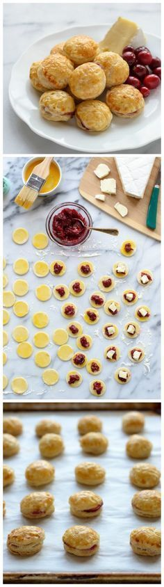 Cranberry Baked Brie Puff Pastry Bites