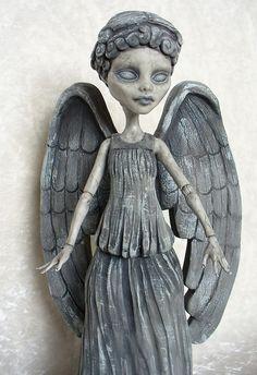 Monster High custom Weeping Angel by redmermaidwerewolf, via Flickr