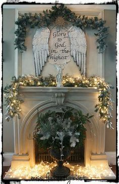 Christmas Mantle Decorating