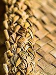 Traditional indigenous Maori weaving of flax leaves and fibre (Phormium sp. Harakeke). Criss cross pattern, New Zealand (NZ). Stock photo from New Zealand (NZ). Photos and Stock Photography by Rob Suisted