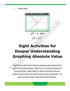 Check out this new product! Enter for your chance to win 1 of 2.  Eight Activities for Deeper Understanding Graphing of Absolute Value (11 pages) from jamesrahn on TeachersNotebook.com (Ends on on 6-7-2014)  Help your students understand how to write a piecewise function for an absolute value function.  Students complete a set of 8 activities that will help them learn to write a piecewise function.  The activity can be duplicated on a back to back activity sheet or as 8 different stations.