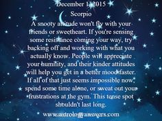 The Astrology Answers Daily Horoscope for Tuesday, December 1, 2015 #astrology