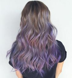 The Prettiest Pastel Purple Hair Ideas Lavender Balayage For Long Light Brown Hair Purple Hair Tips, Purple Brown Hair, Pastel Purple Hair, Light Purple Hair, Lilac Hair, Hair Color Purple, Light Brown Hair, Brown Hair Colors, Ombre Hair