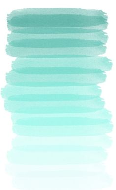 Turquoise and gold. #Watercolor #Paint #Shades