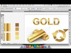 Adobe Illustrator Gradient GOLD text, logo - YouTube