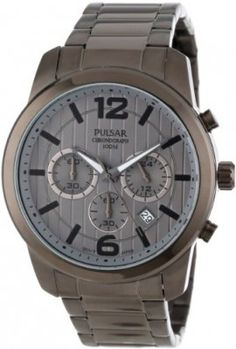 Relógio Pulsar Men's PT3281 Chronograph and Analog Calendar Collections Watch #relogio #pulsar