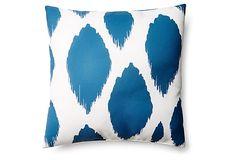 Ikat 20x20 Outdoor Pillow, Blue on OneKingsLane.com