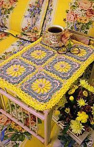 -Sunny Tray Placemat Doily Crochet