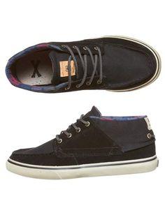 TWO SEASONS - MENS - FOOTWEAR - SKATE SHOES - THE BENDER SHOE BY GLOBE IN DRIZABONE BLACK