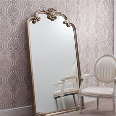 ACHICA | Palazzo Leaner Mirror, Silver