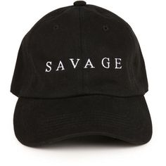 Spoiled Milk The Savage Dad Hat in Black ($28) ❤ liked on Polyvore featuring men's fashion, men's accessories, men's hats, hats, accessories, black and mens caps and hats