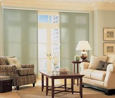 Great alternative to vertical blinds!  A sliding shade for your sliding glass door!  www.budgetblinds.com/glenallen