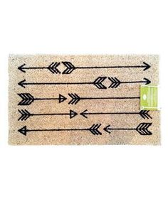 Arrow Doormat: Simple silhouetted arrows offer graphic whimsy to an otherwise humble design. Plus, this cute and conscious mat is made of 100 percent natural coir fibers and environmentally sensitive dyes.