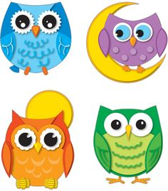 Colorful Owls Temporary Tattoos | Classroom décor from Carson-Dellosa