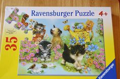 Garden Kitten Puzzle  -- so darling