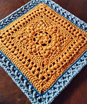 "Ravelry: Duckbill Dalliance 12"" Afghan Block pattern by Margaret MacInnis"