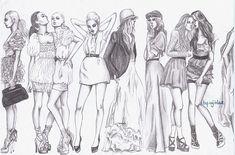 . lets party, lets dance, fashion models, fashion sketches, fashion art, fashion figur, fashion drawings, fashion illustrations, fashionillustr