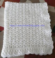 Marumin Crochet simple and classy baby blanket.