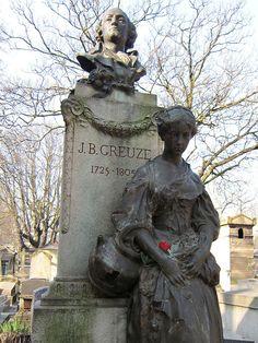 Jean-Baptiste Greuze (1725-1805) Montmartre Cemetery, Paris, France