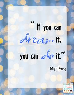 Walt Disney - free quotes for your classroom! Check it out!